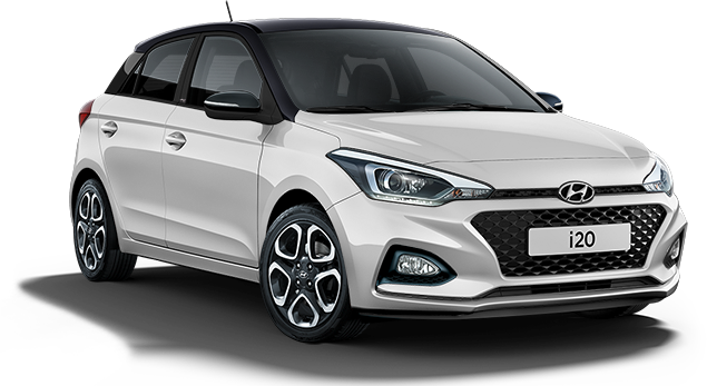 Image of i20 PLAY in Polar White with Phantom Black Roof