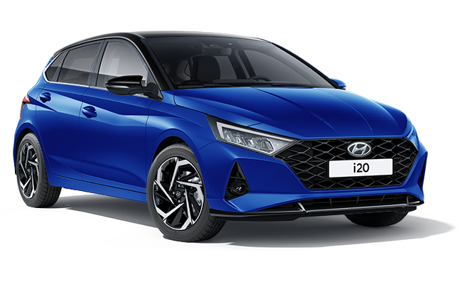 Image of All New i20 Ultimate in Intense Blue with Phantom Black Roof