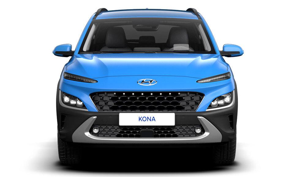 Hyundai Kona Hybrid front of car
