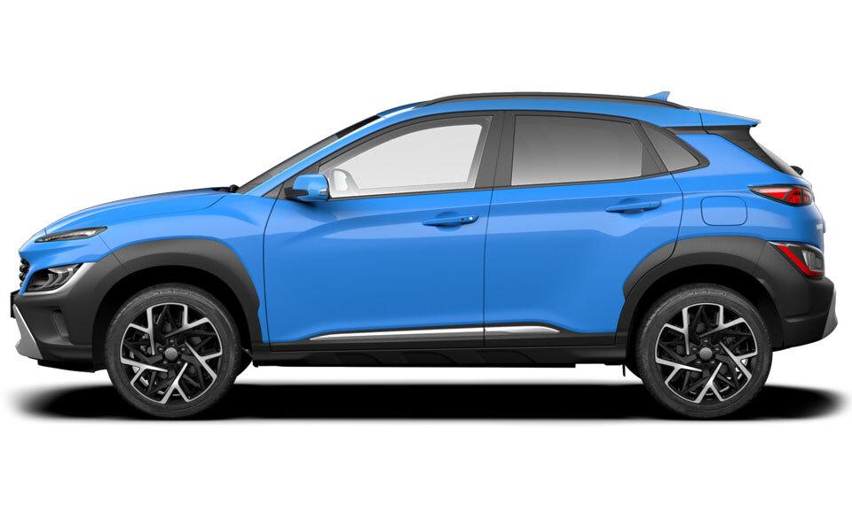 Hyundai Kona Hybrid side of car